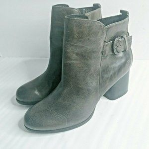 Born Women Ankle Boots Booties 9 Gray Leather